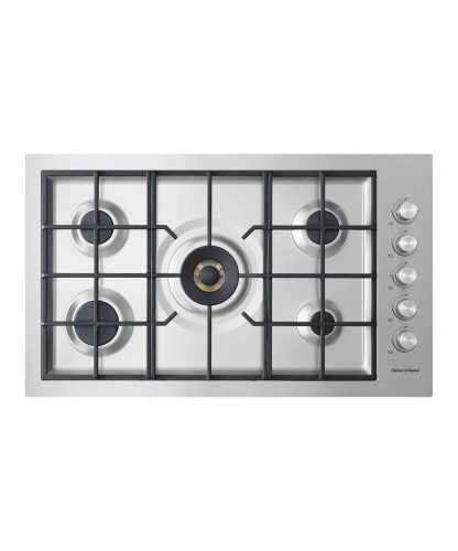 Gas on Steel Cooktop 36 5 Burner, Flush Fit