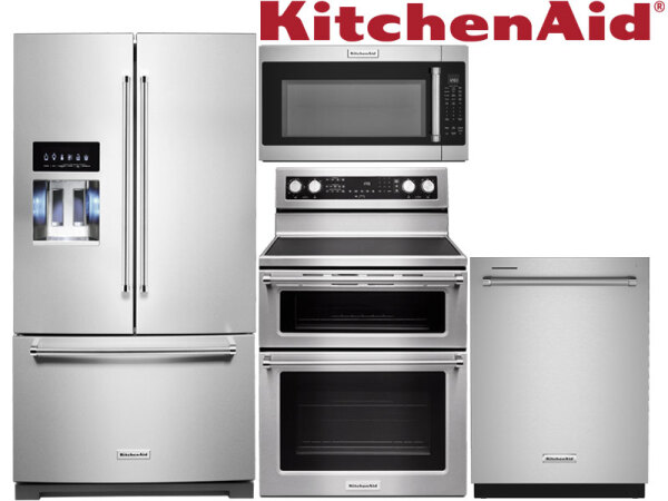 KitchenAid Stainless Steel Double Oven Package (1)