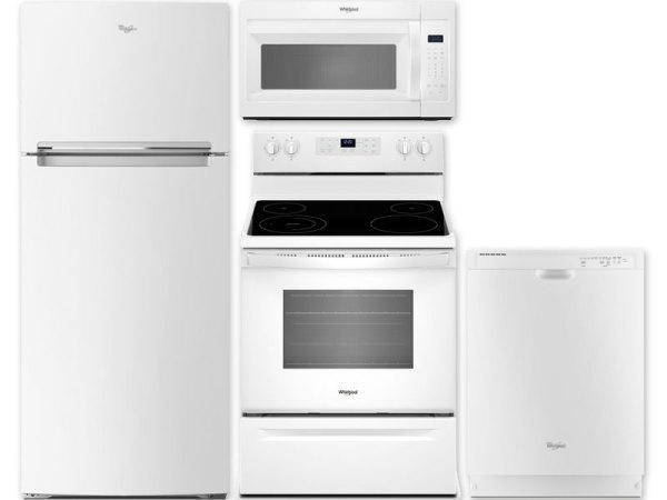 All Whirlpool White Package: WRT518SZFW WFE515S0JW WDF540PA