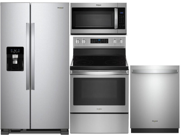Whirlpool Side-By-Side Stainless Steel Value Package