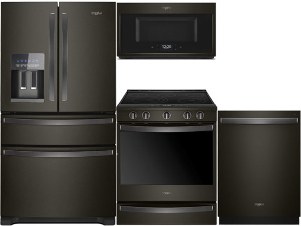 Whirlpool Black Stainless Kitchen Package Appliance Direct Appliances