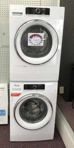 2.3 CU/FT COMPACT FRONT LOAD WASHER & 4.3CU/FT VENTLESS DRYER