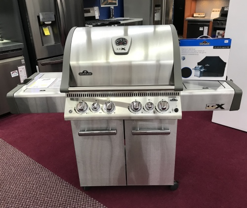 Napoleon LEX 485 Propane Gas Grill with Infrared Side and Rear Burners, Stainless Steel