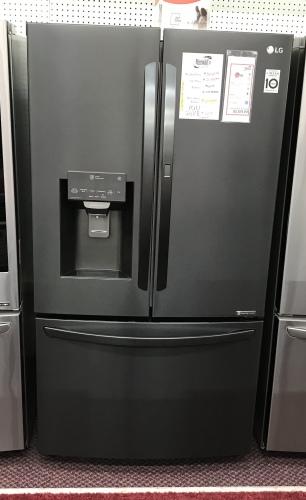 LG LG Matte Black Stainless Steel 28 cu.ft. 3-Door Refrigerator with Door-in-Door