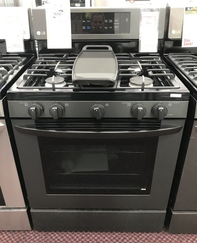 LG LG LG Matte Black Stainless Steel 5.4 cu. ft. Capacity Gas Single Oven Range