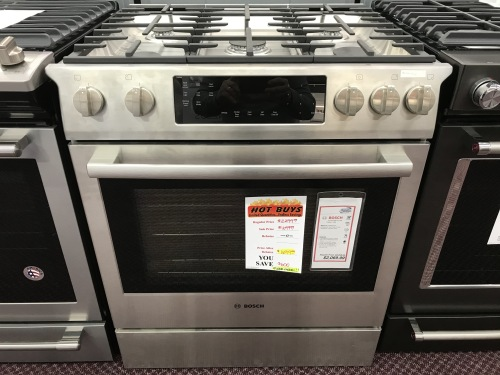 Bosch BOSCH  5 BURNER GAS SLIDE-IN RANGE/OVEN - HOT BUY!