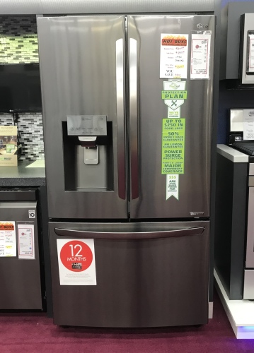 LG LG BLACK STAINLESS FRENCH DOOR REFRIGERATOR WITH ICE/WATER IN THE DOOR - HOT BUY!