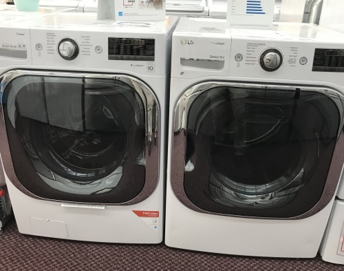 5.2 cu. ft. Mega Capacity TurboWash Washer /9.0 cu. ft. Mega Capacity Electric Dryer w/ TrueSteam